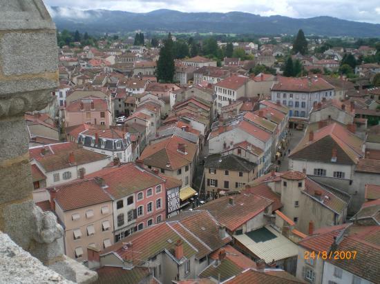 vue d'Ambert au sommet de l'Eglise